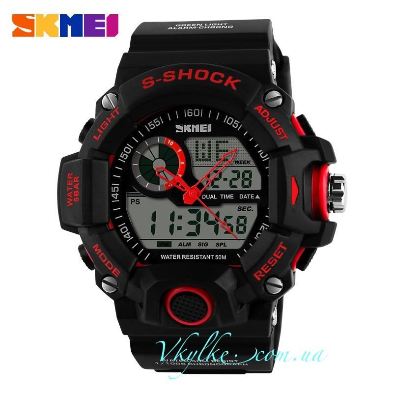 Skmei Military S-Shock (1053) черные с красным