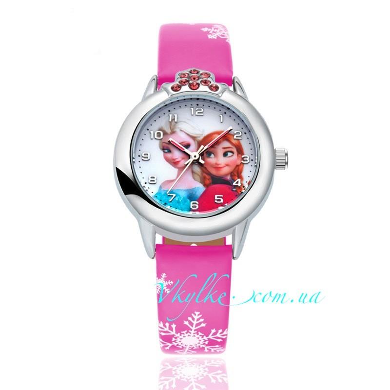 Часы ХОЛОДНОЕ СЕРДЦЕ розовые