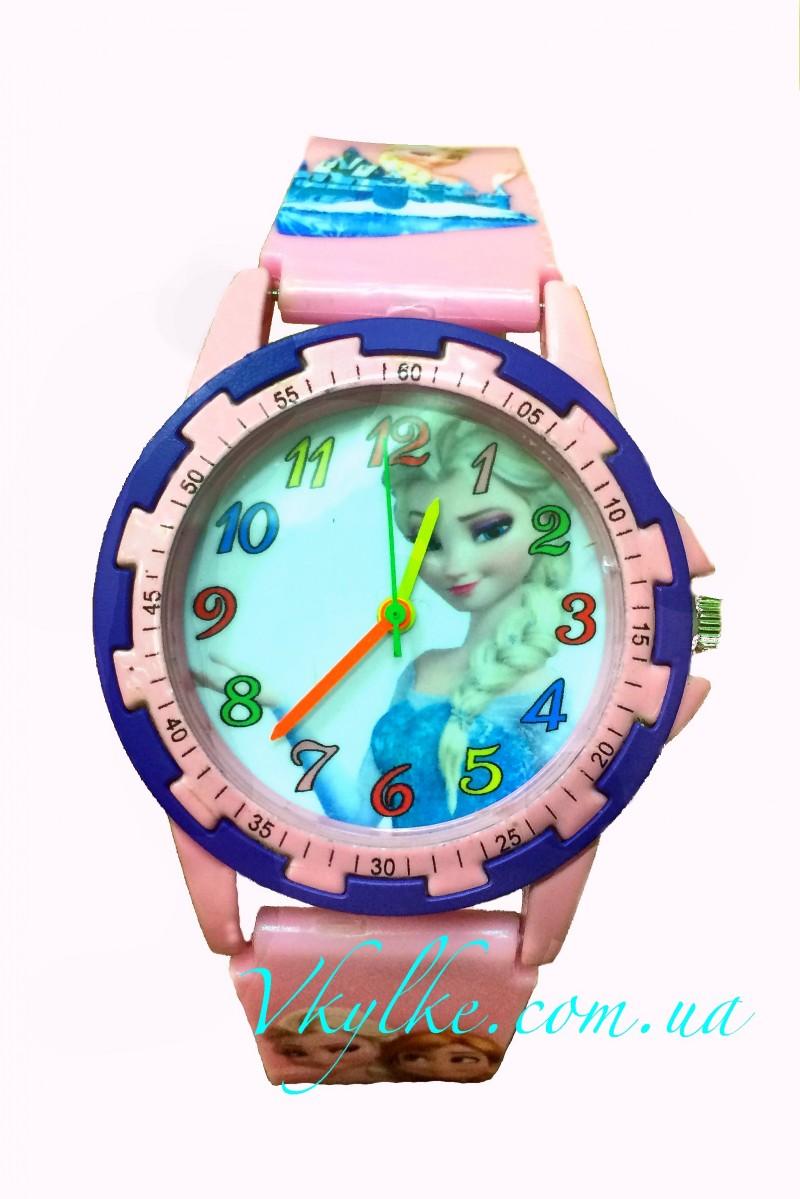 Детские часы ХОЛОДНОЕ СЕРДЦЕ розовые