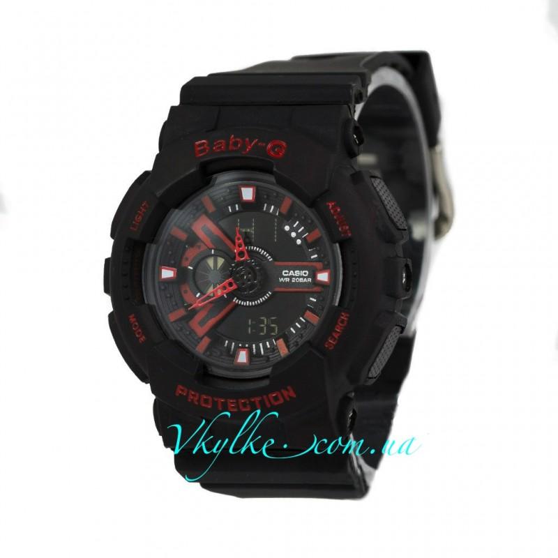 Casio Baby-G BA-110 черные с красным