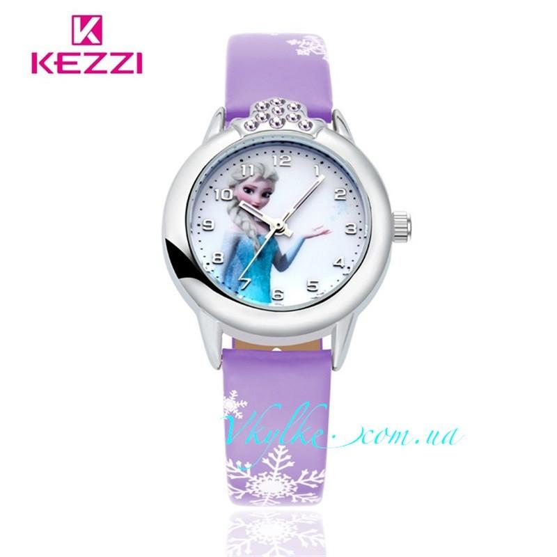 Часы ✿ ХОЛОДНОЕ СЕРДЦЕ ✿ фиолетовые