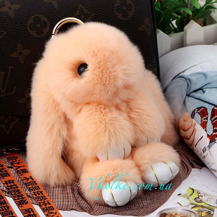 Брелок Кролик персиковый