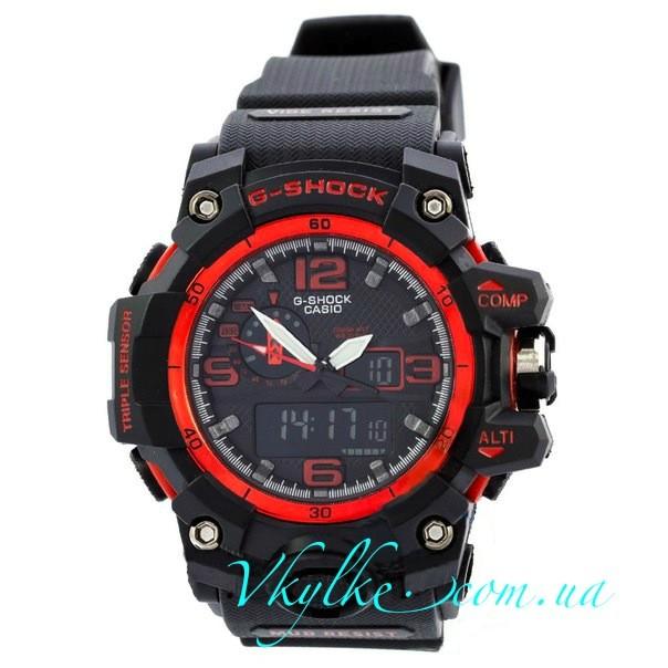 Часы G Shock GWG-A1000 MUDMASTER  черные с красным
