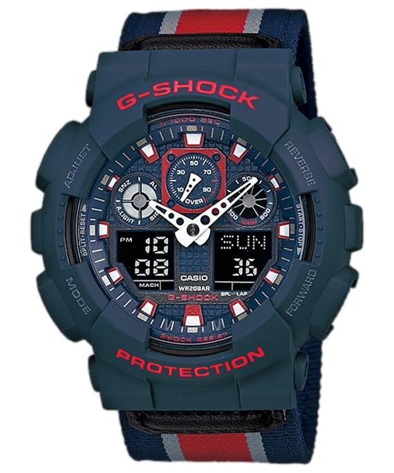 Casio G-Shock GA-100MC-2AJF черные с красным