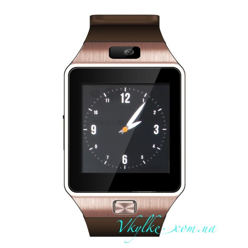 Smart Watch DZ09 коричневый с золотом
