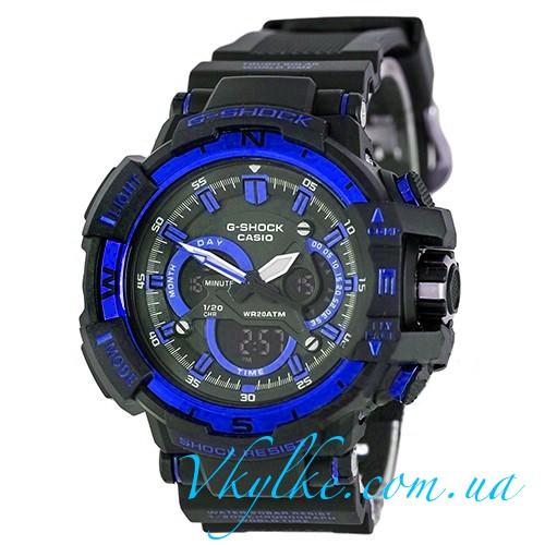 Часы Casio G-Shock G-1100 черные с синим