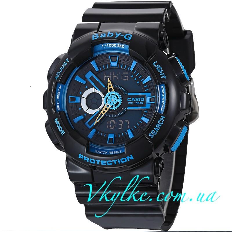 Casio Baby-G BA-110 черные с синим