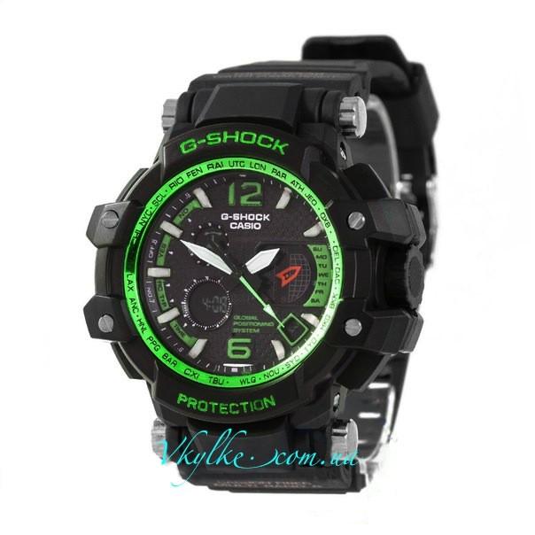 Casio G-Shock GPW-1000 черные с зеленым
