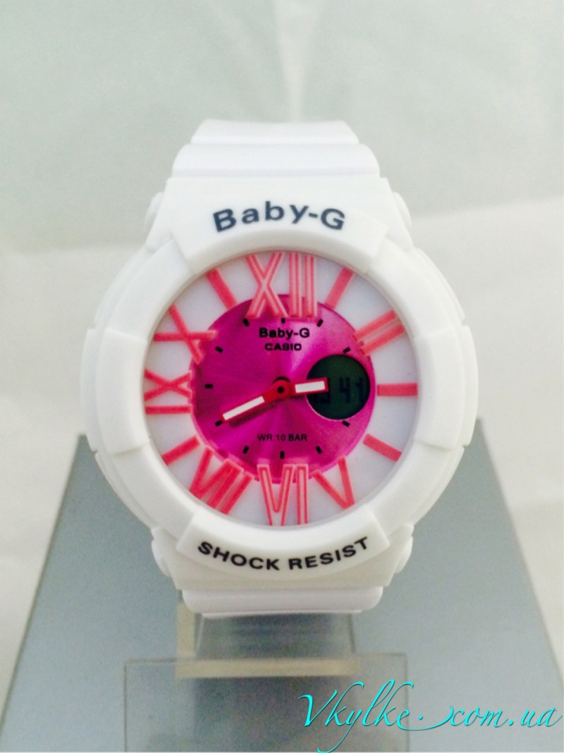 Casio Baby-G BGA-160 белые с розовым