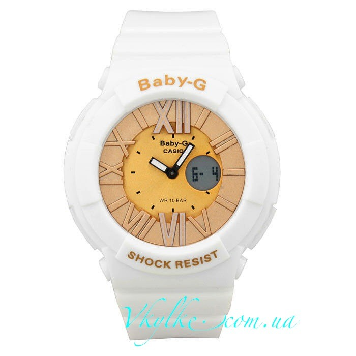 CASIO BABY-G BGA-160 белые с золотом