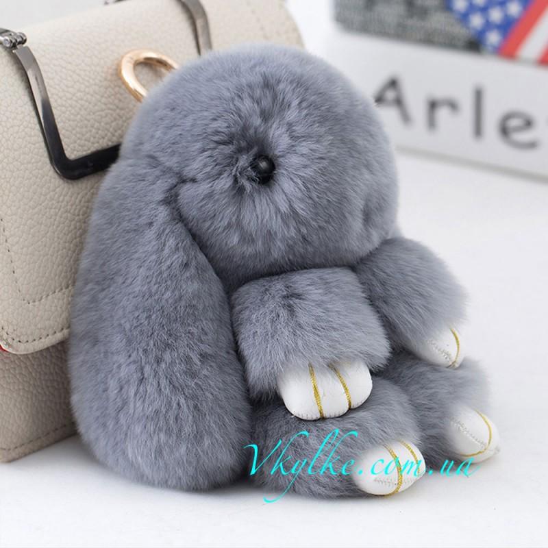 Брелок Кролик серый