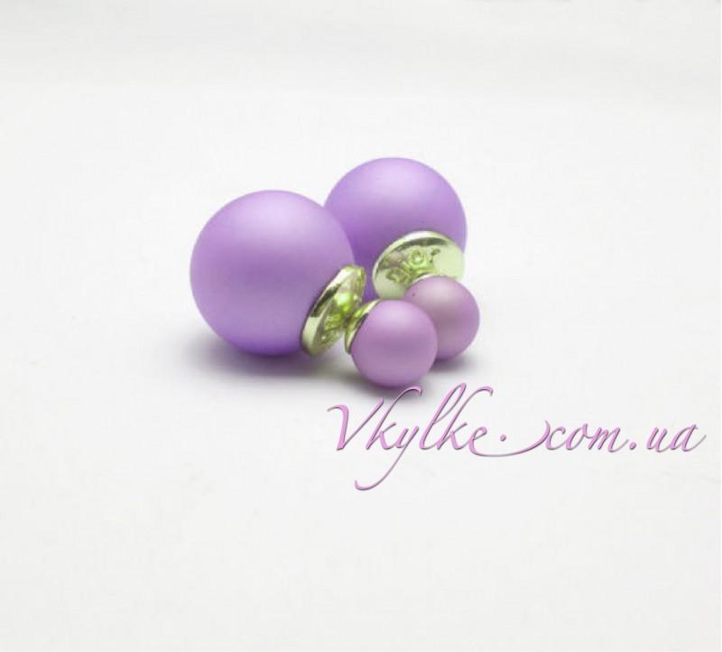 Серьги Mise en Dior фиолетовые