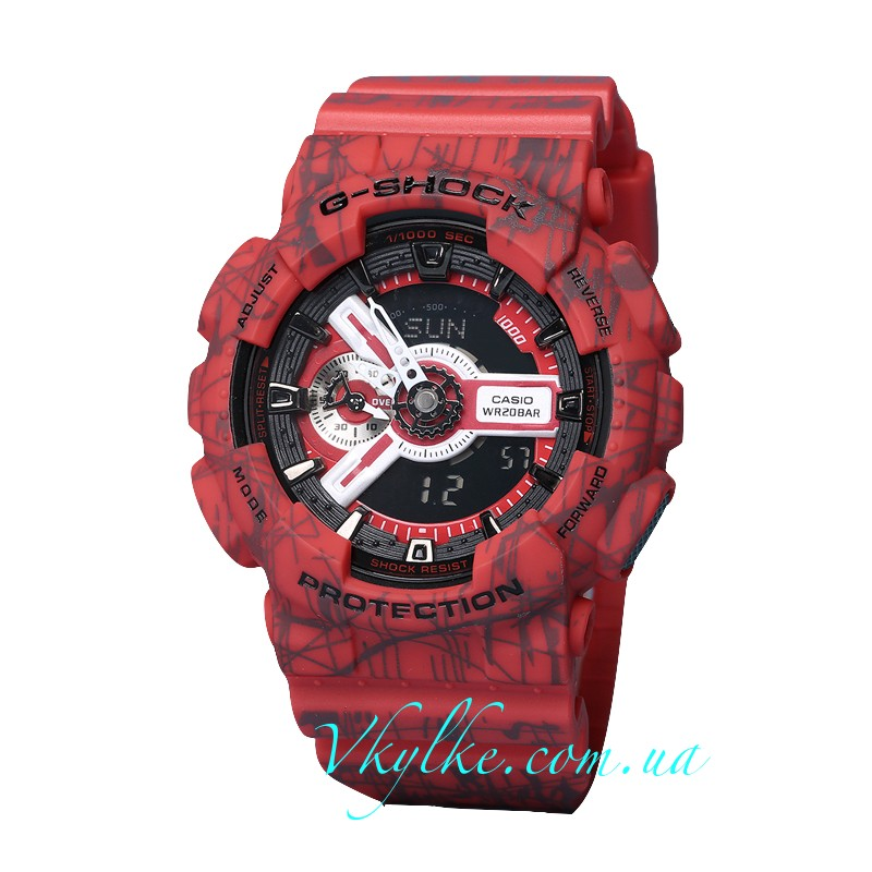Часы Casio G-Shock GA-110 SLASH red AAA