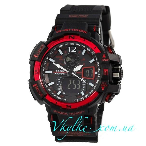 Копия Casio G-Shock GW-A1100 черные с красным