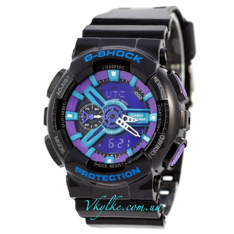 Копия Casio G-Shock GA-110 черные с фиолетовым