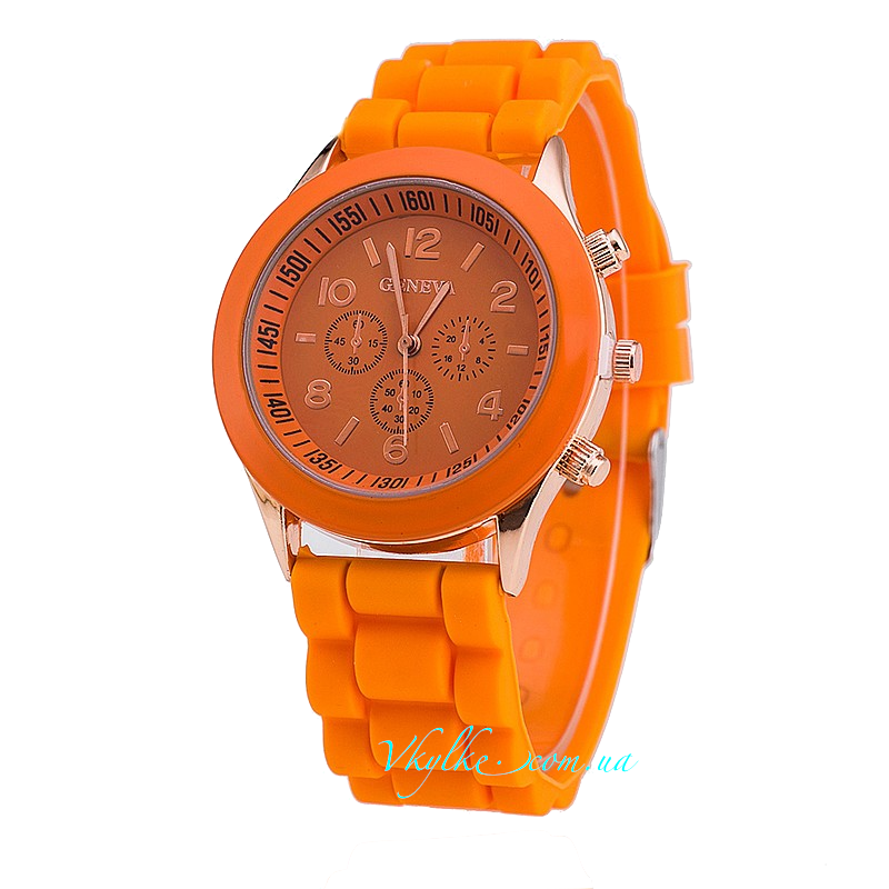 Часы Geneva оранжевого цвета