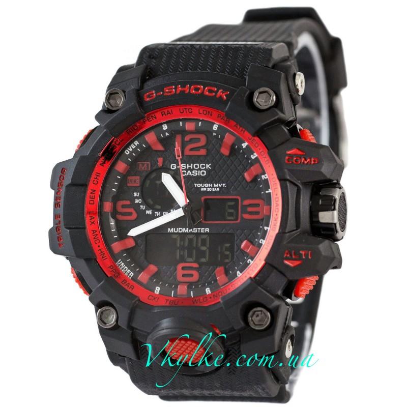 Часы Casio G-Shock GWG-1000  черные с красным