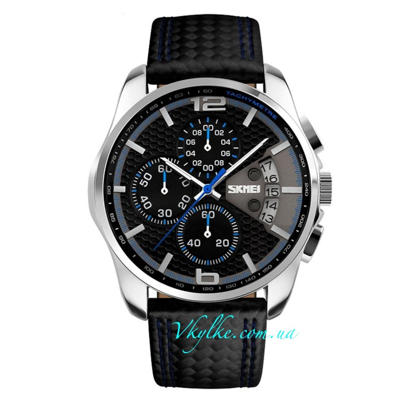 Часы Skmei 9106 Spider черные с синим