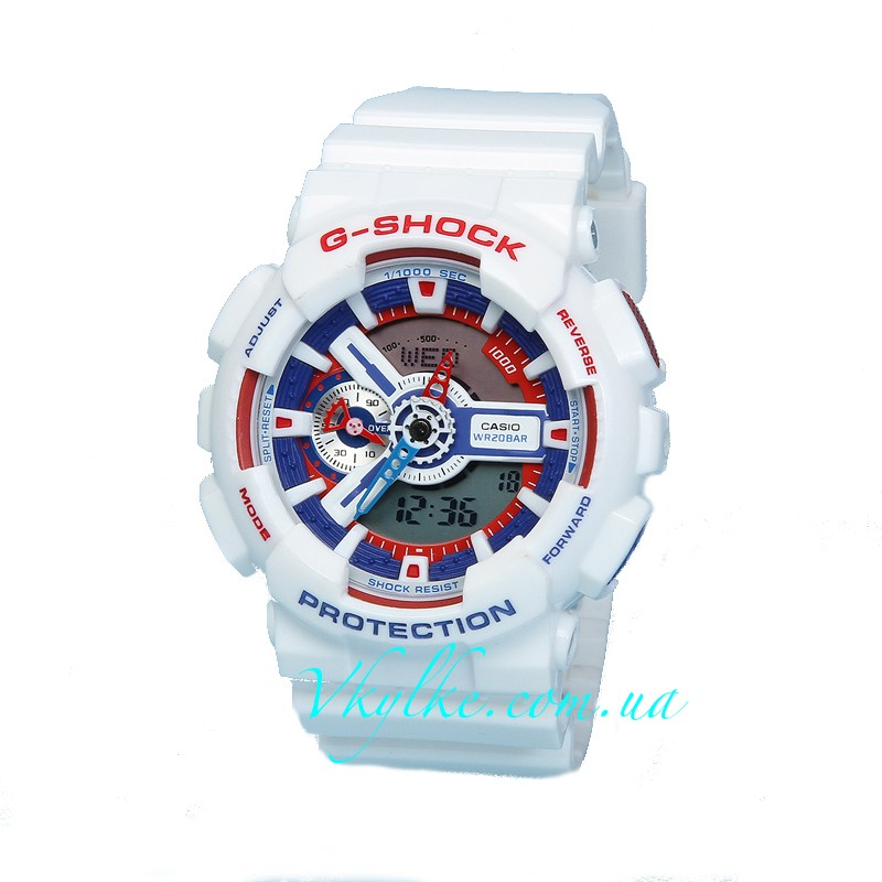 Часы Casio G-Shock GA-110 White & Red/blue AAA