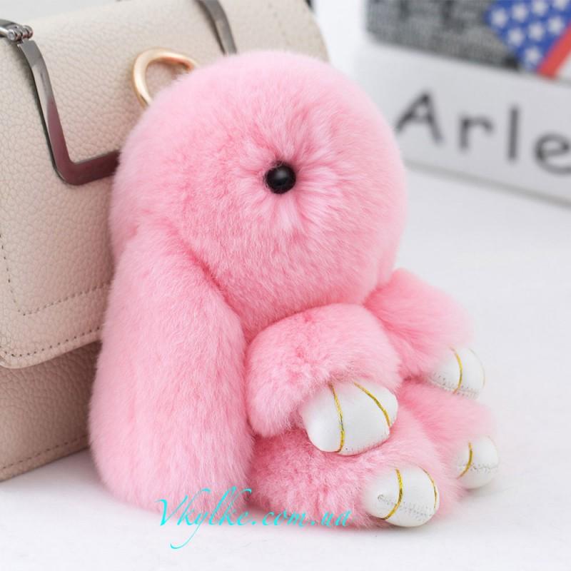 Брелок кролик (10 см) розовый