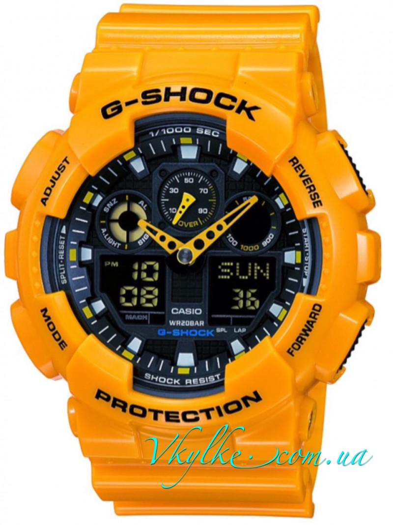 Casio G-Shock GA-100A-9AER yellow