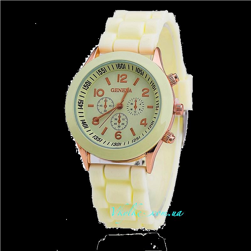 Часы Geneva молочного цвета