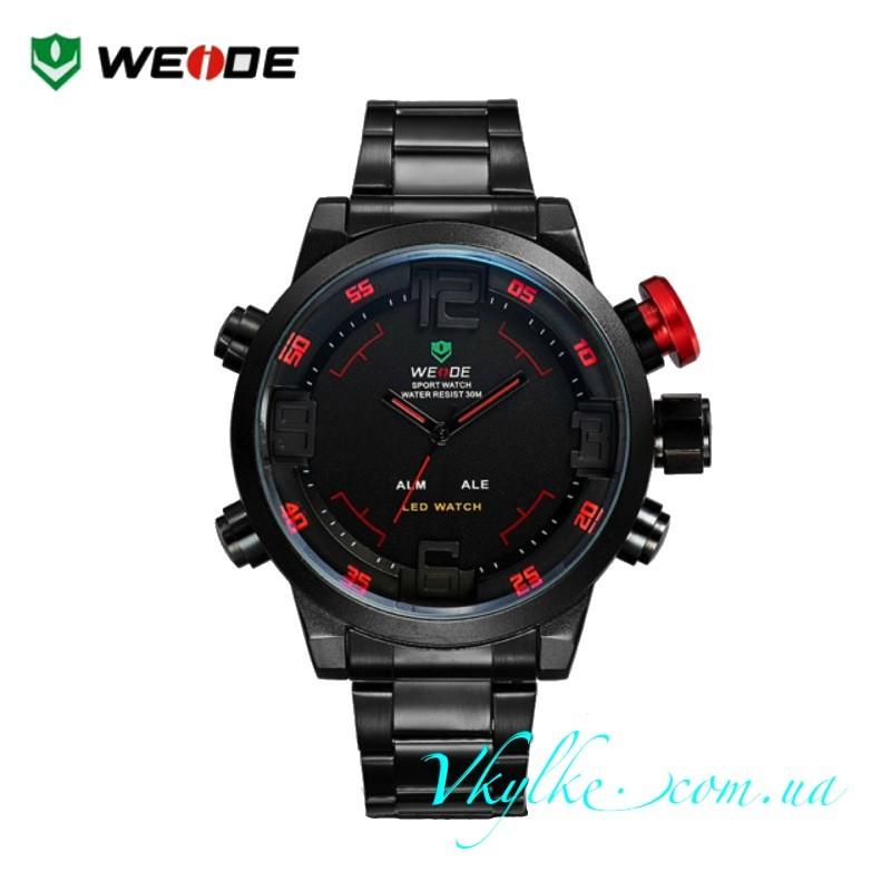 Weide  Sport Watch WH-2309 черные с красным