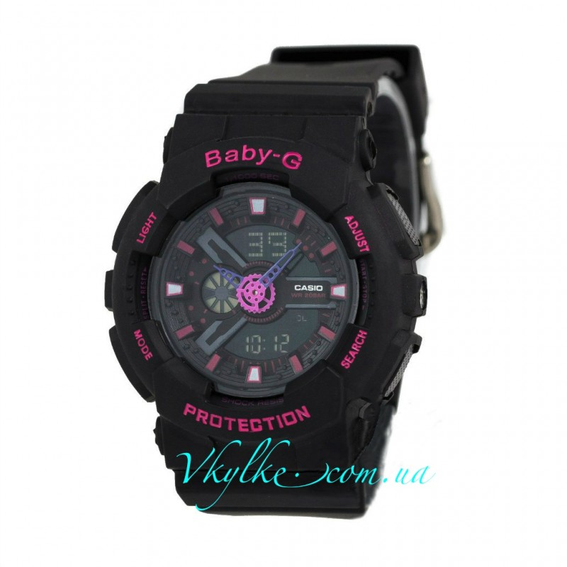 Casio Baby-G BA-110 черные с розовым