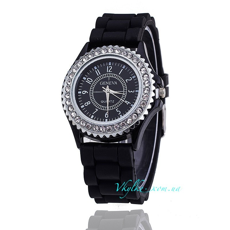 ЧАСЫ Geneva Diamond черные