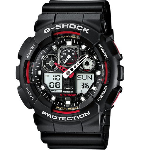 CASIO G-SHOCK GA-100-1A4ER Black&red