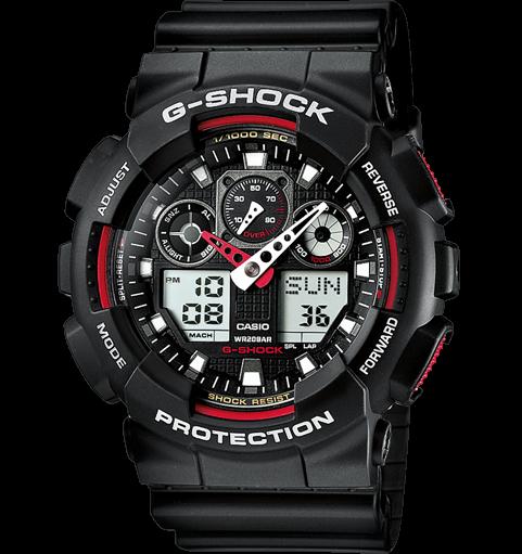 CASIO G-SHOCK GA-100-1A4ER Black&red