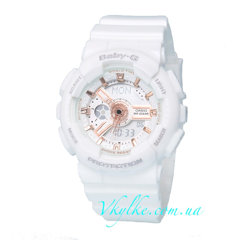 Часы Casio Baby G BA-110 White Rose AAA