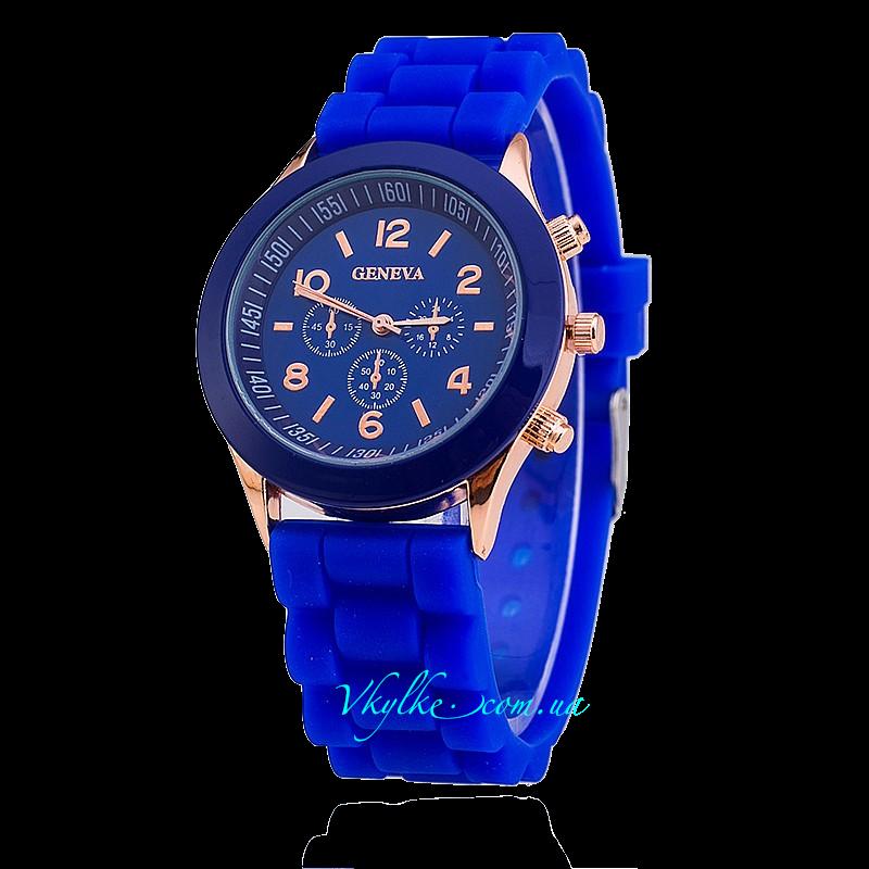 Часы Geneva темно синего цвета