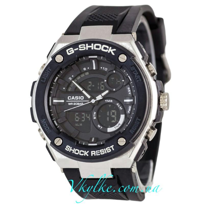 CASIO G-SHOCK GST-210 черные  с белым