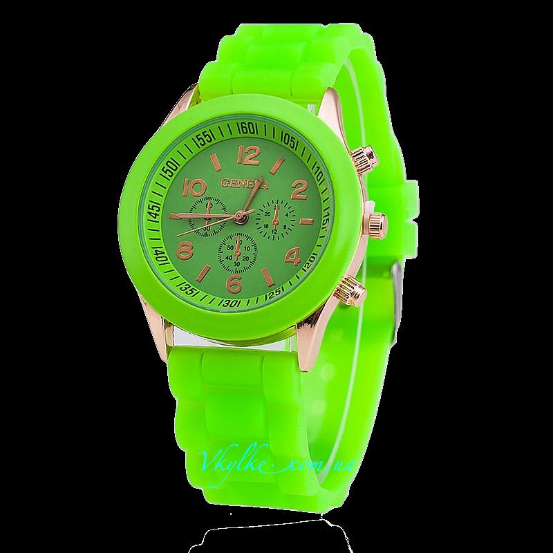 ЧАСЫ GENEVA зеленого цвета