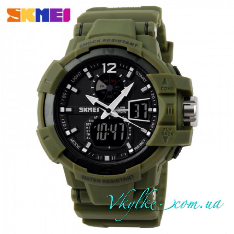 Skmei Shock Resistant(1040) зеленого цвета