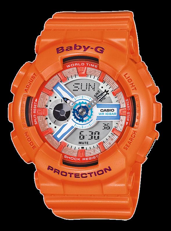 CASIO Baby-G BA-110SN-4AER оранжевые
