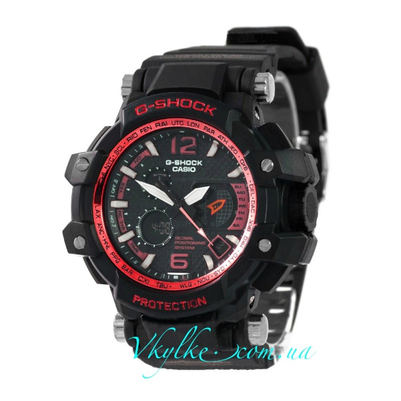 Casio G-Shock GPW-1000 черные с красным