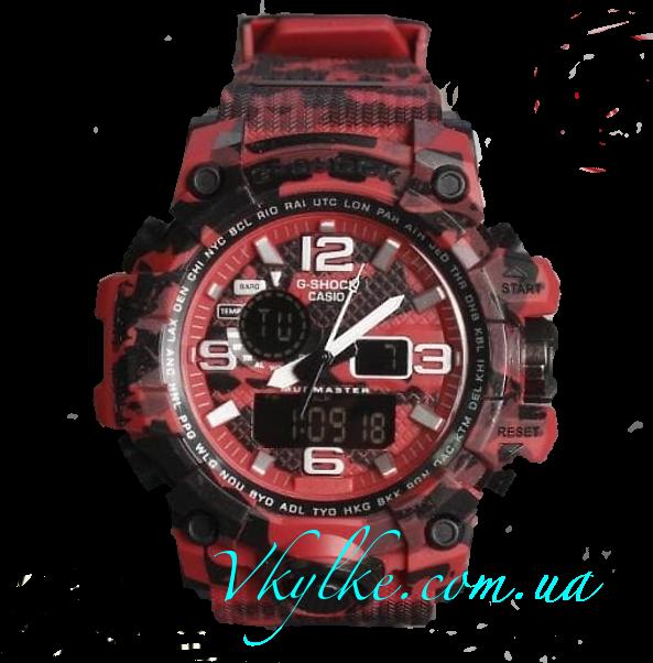 Casio G-Shock GWG-1000 хаки красные