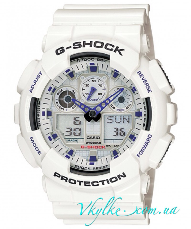 Casio G-Shock  GA-100A-7AER White