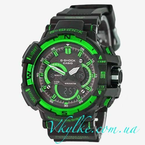 Часы Casio G-Shock G-1100 черные с зеленым