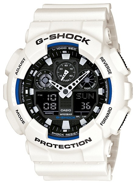 Casio G-Shock GA-100B-7AER белые с черным