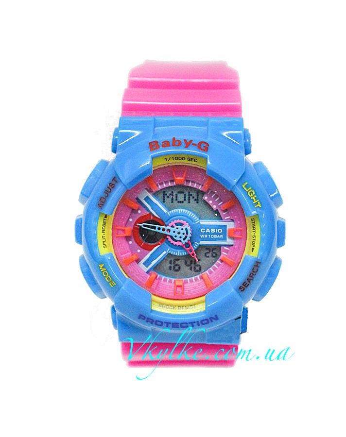 Женские часы CASIO BABY-G BA-110 pink with azure