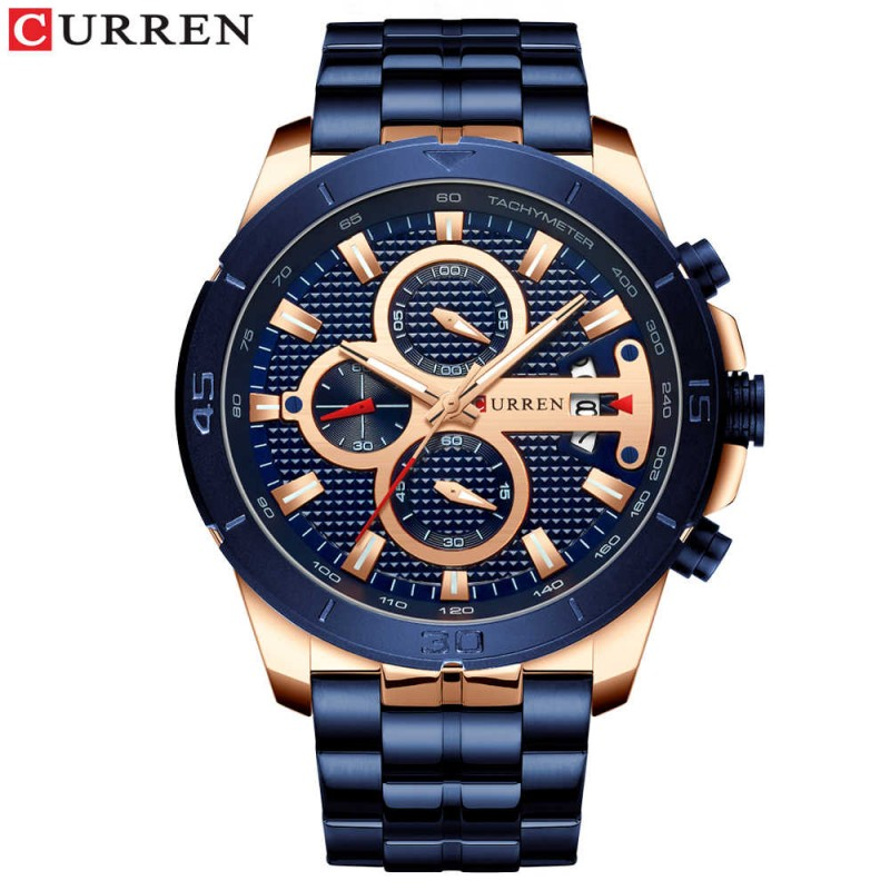 ЧАСЫ CURREN 8337 rose gold blue
