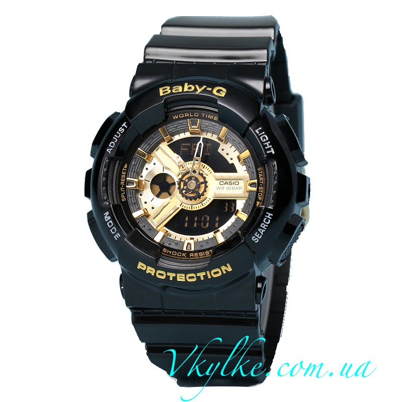 Часы Casio Baby-G BA110-1A Black&Gold AAA