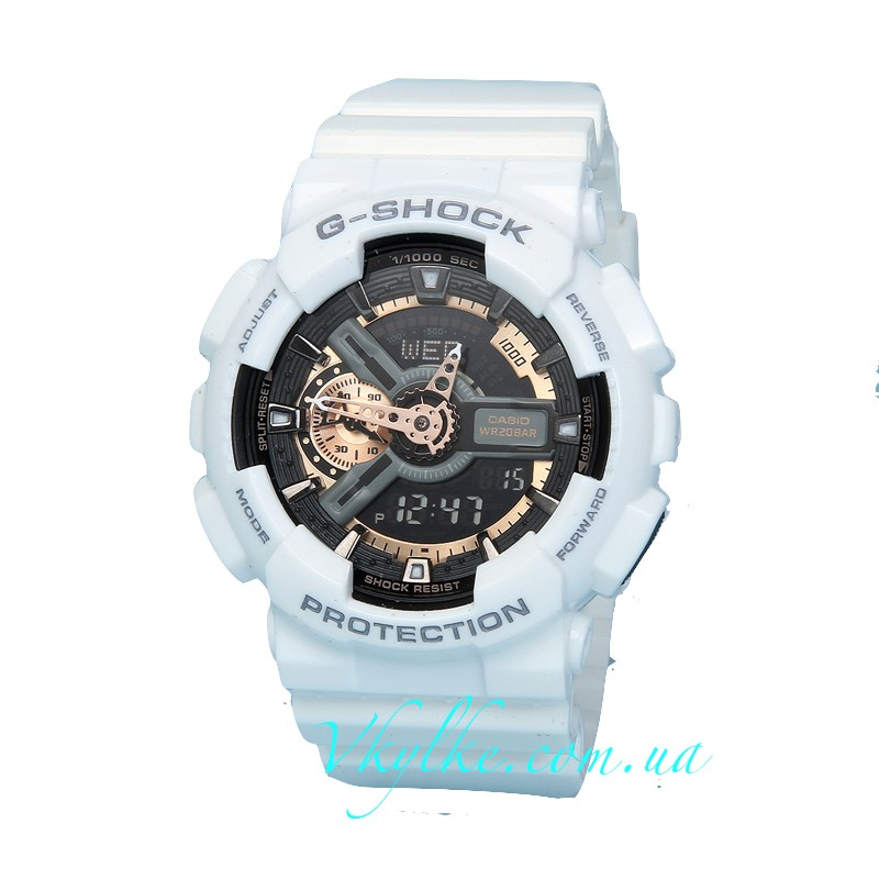 Часы Casio G-Shock GA-110 White&Gold AAA