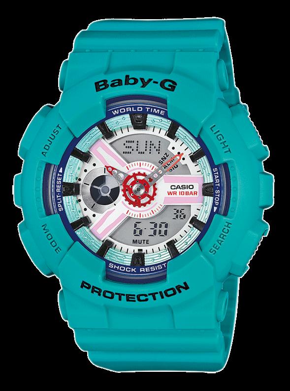 CASIO Baby-G BA-110SN-3AER бирюзовые