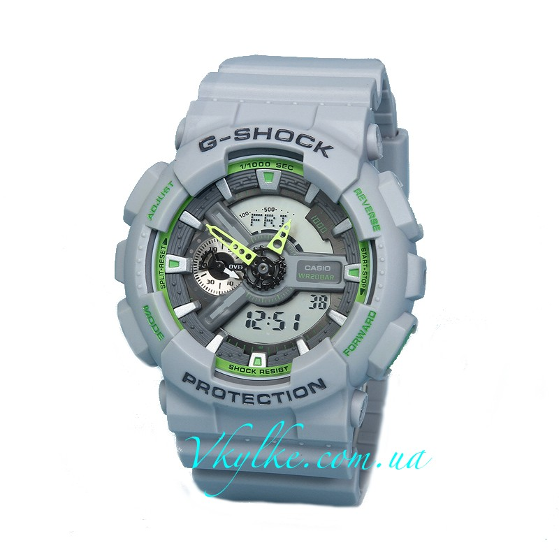 Часы Casio G-Shock GA-110 Gray-Green AAA