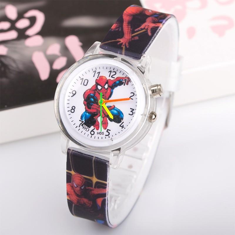 Часы с подсветкой Spider-man черные