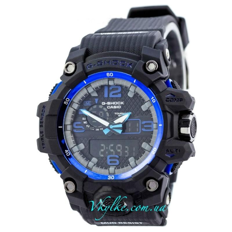 Часы Casio G-Shock GWG-1000  черные с синим